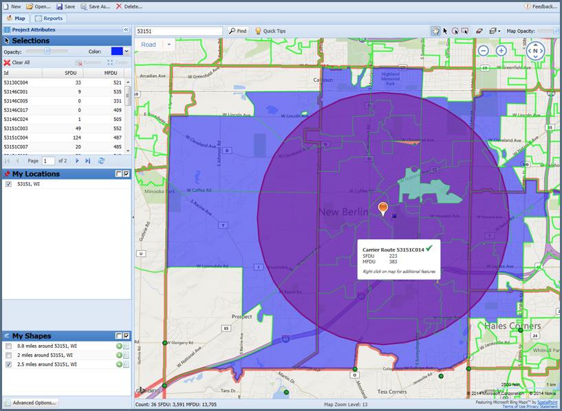 Carrier Routes   SpatialPoint