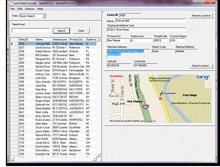 Local Data Console - SpatialPoint